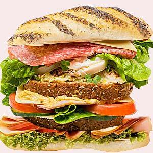 A tall sandwich.